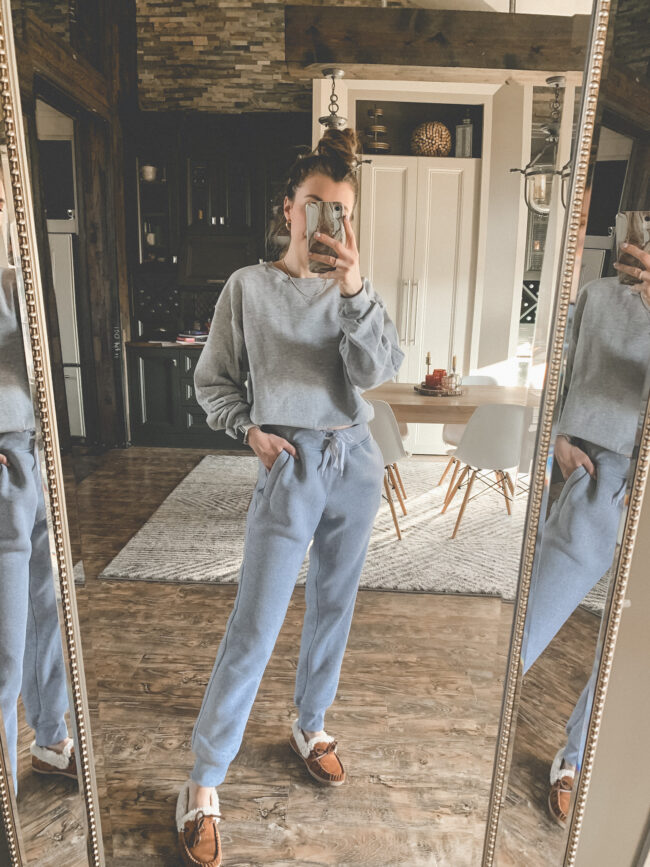 A comfortable set from AMAZON! | Comfy and casual JANUARY outfits from Amazon - the first of my 2021 Amazon finds! Kansas City life, home, and style blogger Megan Wilson