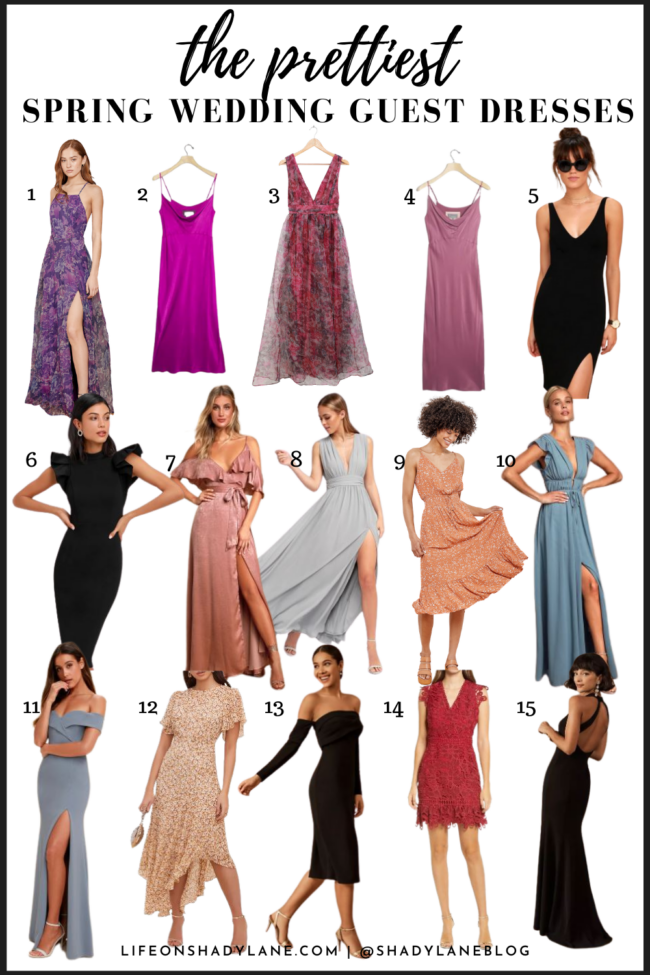 Wedding guest dresses for spring - a roundup of options for any type of wedding! | Kansas City life, home, and style blog