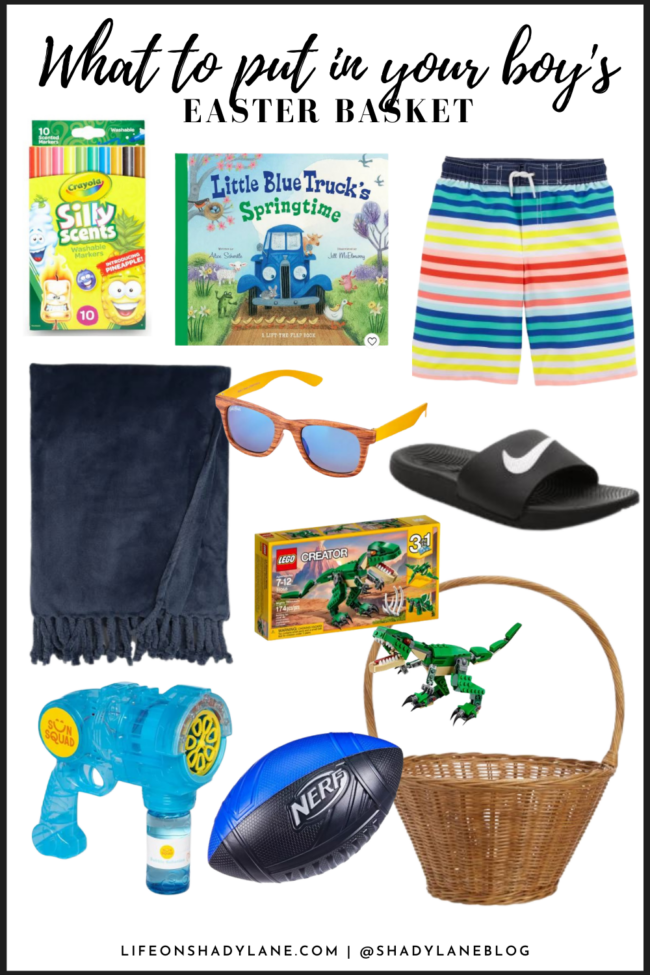 Easter basket ideas for kids | What to put in y our girl's Easter Basket | I'm always scrambling to find things to put in my kids Easter baskets, but luckily there's a ton of fun things you can put in them! I prefer to include things that they'll actually use (I love summer things like new swim suits, bubbles, chalk, sandals, etc.) and not a ton of candy...although you can't NOT include some candy! ;)