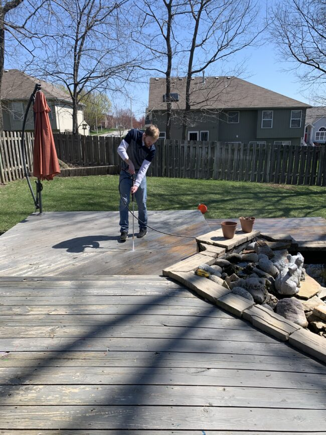 Deck lounge area makeover - see how we took this space from BORING and sad to COZY and fab! Kansas City life, home, and style blog | Backyard