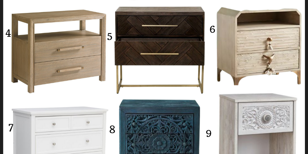 A variety of master bedroom nightstands at several different price points so there's something for everyone! | Kansas City life, home, style