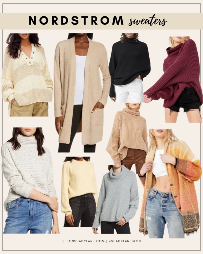 Nordstrom Anniversary Sale 2021 Shopping Guide | Sweaters, fall sweaters, fall fashion | Kansas City life, home, and style blogger Megan Wilson @shadylaneblog shares her top picks!