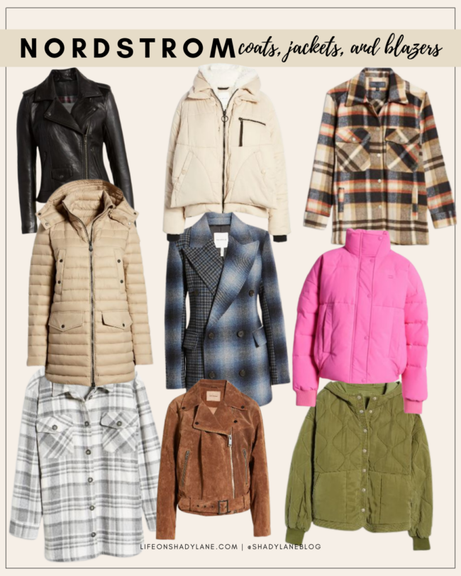 Nordstrom Anniversary Sale 2021 Shopping Guide | coats, jackets, and blazers, fall fashion | Kansas City life, home, and style blogger Megan Wilson @shadylaneblog shares her top picks!