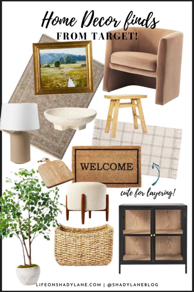 Organic modern home decor | neutral, eclectic home finds all at an affordable price! Psst: everything is from TARGET! | Kansas City life, home, style blogger @shadylaneblog